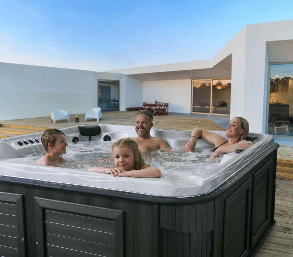 Family Enjoying Arctic Spas Together